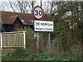 TM1378 : Norfolk County sign on the B1077 Stuston Road by Adrian Cable