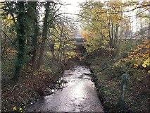 SK1831 : A50 crossing Foston Brook at Foston Bridge by Ian Calderwood