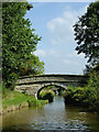 SJ8459 : Gravel Pit Bridge north of Ackers Crossing, Cheshire by Roger  Kidd