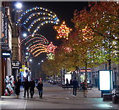 SK5804 : Leicester High Street Christmas lights by Mat Fascione