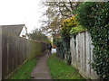 SP1720 : Footpath from car park to Station Road, Bourton-on-the-Water by Robin Stott