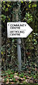 TM3555 : Tunstall Community Centre sign by Adrian Cable