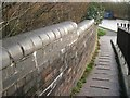 SP2965 : Boundary wall to access ramp east of bridge 46, Grand Union Canal, Warwick by Robin Stott