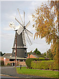 TF1443 : Heckington Mill with autumn colours by Alan Murray-Rust
