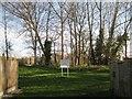 SP2965 : Council caution, Riverside open space off Mercia Way, Warwick by Robin Stott