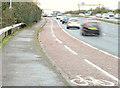J3876 : Cycle lane, Sydenham bypass, Tillysburn, Belfast (November 2014) by Albert Bridge