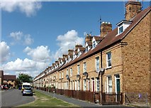 TF0920 : Woodview terraces at Bourne, Lincolnshire by Rex Needle