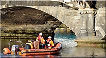 J3474 : Rescue boat, River Lagan, Belfast (November 2014) by Albert Bridge