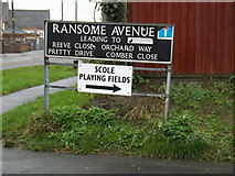 TM1579 : Ransome Avenue sign by Adrian Cable