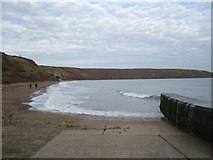 TA1281 : Filey Brigg seen from Coble Landing by Jonathan Thacker