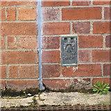 TF3242 : Flush bracket bench mark G4136, Black Sluice, Boston by Alan Murray-Rust