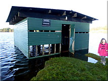 H5776 : Flooded boathouse, Loughmacrory by Kenneth  Allen