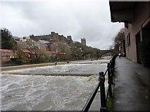 NZ2742 : River Wear at Durham in spate by Robert Graham