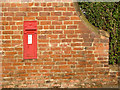 SK6588 : Scrooby Top postbox ref DN10 156 by Alan Murray-Rust