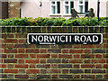 TM2185 : Norwich Road sign by Adrian Cable