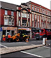 ST3188 : JCB and topsoil lorry in Clarence Place, Newport by Jaggery