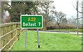 J4470 : Route confirmatory sign, Comber (November 2014) by Albert Bridge