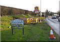 SK6889 : Mattersey village entrance sign by Alan Murray-Rust