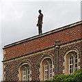 TL4558 : Jesus College: an Antony Gormley figure by John Sutton