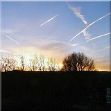 SJ9594 : Morning contrails by Gerald England