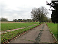 TF8424 : Earl of Bandon Avenue looking towards the Officers Quarters by Adrian S Pye