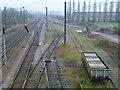 TF0908 : Railway sidings at Tallington by Richard Humphrey