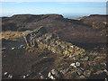 SD5751 : Toppled trig pillar, Hawthornthwaite Fell Top by Karl and Ali