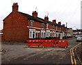 SU1586 : Kembrey Street temporary barriers, Swindon by Jaggery