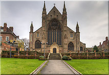 SO8454 : West front, Worcester Cathedral by David P Howard