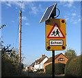 SU6367 : Solar Powered School Sign by Des Blenkinsopp