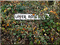TM1278 : Upper Rose Lane sign by Adrian Cable
