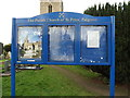 TM1178 : St.Peter's Church Notice Board by Adrian Cable