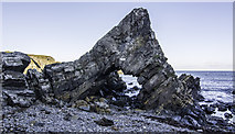 NJ7164 : Natural Arch in Loch Craig by Peter Moore