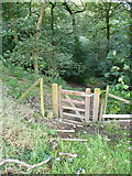 SE0026 : Gate into Stephenson House Wood on Hebden Royd FP20 by Humphrey Bolton