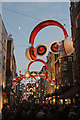 TQ2981 : Carnaby Street Christmas lights by Oast House Archive