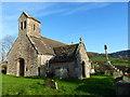 SO4505 : St Govan's church and ancient calvary, Llangovan by Ruth Sharville