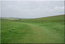 TV5197 : Footpath in the Seven Sisters Country Park by N Chadwick