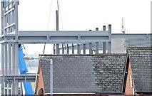 J3272 : The new Railway Stand, Windsor Park, Belfast - December 2014(1) by Albert Bridge