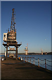 NT1278 : Crane at Port Edgar by Anne Burgess