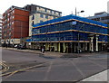 SU1585 : The Queens Tap under scaffolding, Swindon by Jaggery