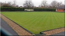 SU5290 : Didcot Bowls Club bowling green by Jaggery
