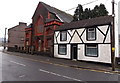 SS8590 : Black & white house and a former chapel in Maesteg by Jaggery