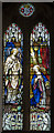 TQ6404 : Stained glass window, St Nicholas' church, Pevensey by Julian P Guffogg