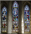TQ6404 : East window, St Nicholas' church, Pevensey by Julian P Guffogg