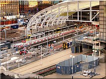 SJ8499 : Installation of New Roof at Victoria Station (Dec 2014) by David Dixon