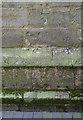 SK4553 : Bench mark, St Helen's Church Selston by Alan Murray-Rust