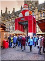 SJ8398 : Christmas Market, Manchester Town Hall by David Dixon