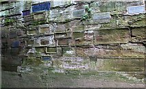 SO8454 : New flood level stone, the Water Gate, Worcester by Bob Embleton