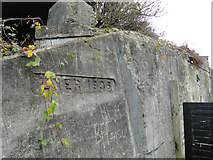 TM4598 : Date stamp on a buttress. LNER 1936 by Adrian S Pye