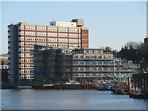 TQ7568 : Chatham Riverside Apartments and River Medway by David Anstiss